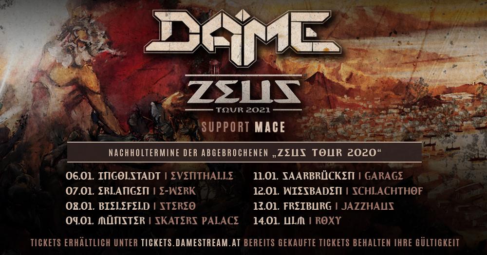 ZEUS Tour: Ersatztermine 2021